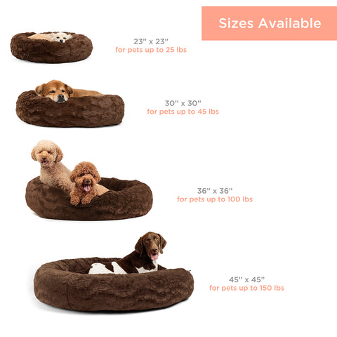 calming dog bed size guide