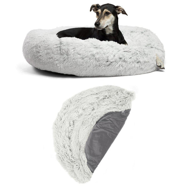 "The Original Calming Donut Dog Bed + Extra Cover Bundle - 36"" x 36"""