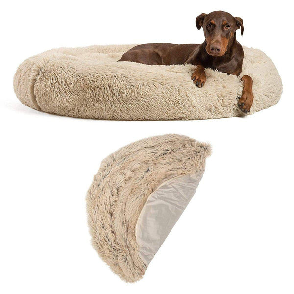 "The Original Calming Donut Dog Bed + Extra Cover Bundle - 45""x45"""