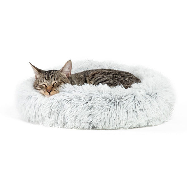 "The Original Calming Donut Dog Bed in Shag Fur - 17""x17"""