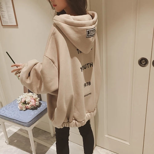 Winter New Korean Hip Hop Loose Oversized Hoodies