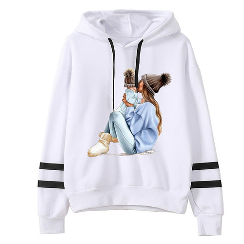Winter Women MOM mouse print Hoodies