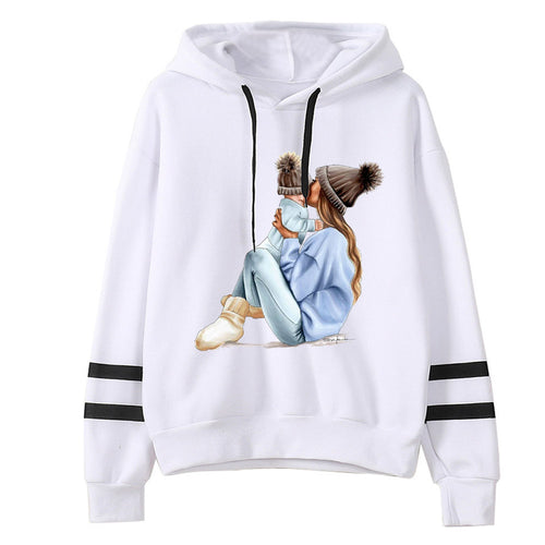 Autumn Women MOM mouse print Hoodies