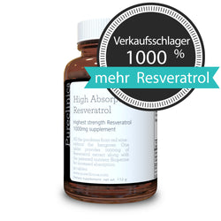 Resveratrol 1000 mg x 90 Tabletten - 50% Trans-Resveratrol - Hohe Absorptionsrate