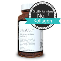 Collagen (1000mg x 180 Tabletten) - Ultracoll Anti-Ageing aus marinem Kollagen.