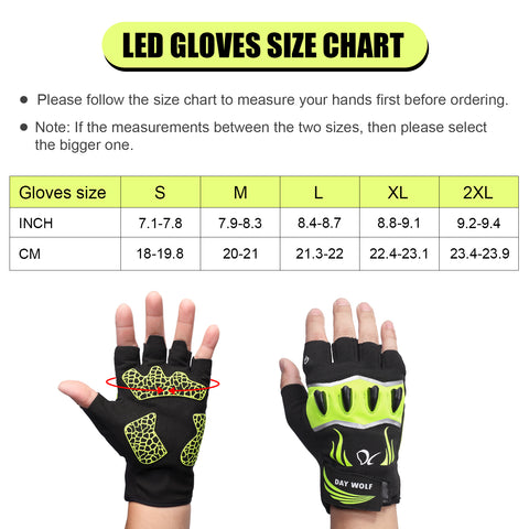 SIZE GUIDE DAY WOLF LED GLOVES