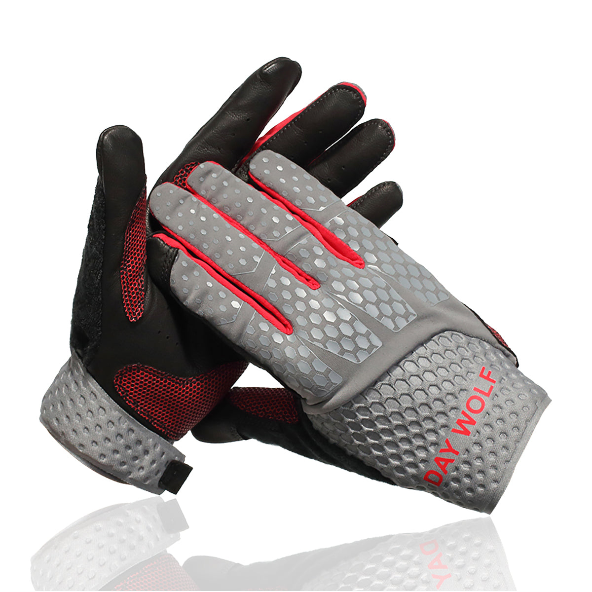 Full Finger Fitness Gloves Gym Workout Weight Lifting Exercise for Men & Women Red