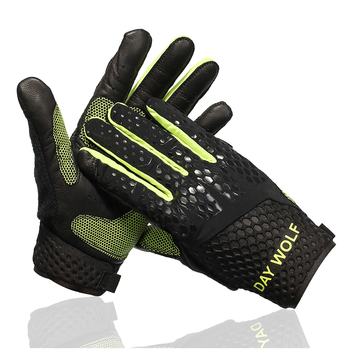 Full Finger Fitness Gloves Gym Workout Weight Lifting Exercise for Men & Women Green