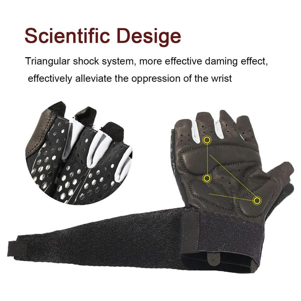 Fitness Gloves Gym Workout Weight Lifting Exercise for Men & Women Black