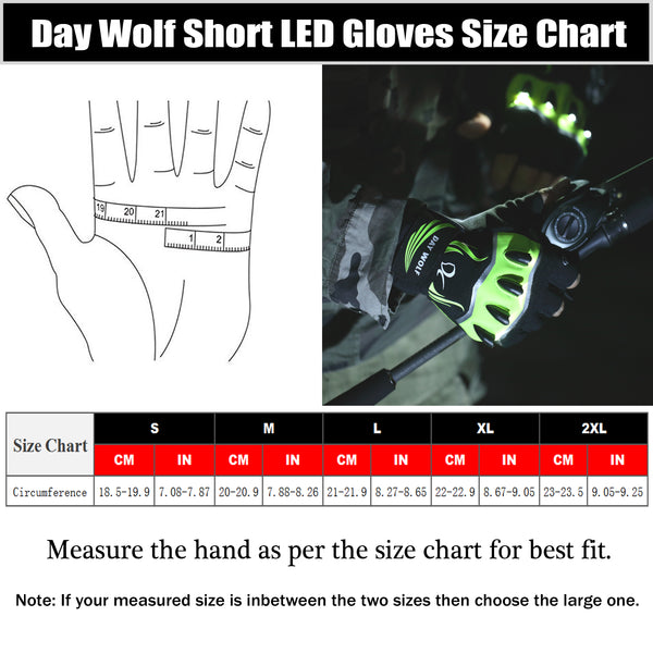 Short Finger LED Flashlight Gloves Touch Screen Rechargeable 3 LED Modes Bright Torch High Lumens Cycling Night Work Indoor Outdoor Sports Fishing Camping Hiking Halloween Gift Work Up to 6 Hours Men And Women
