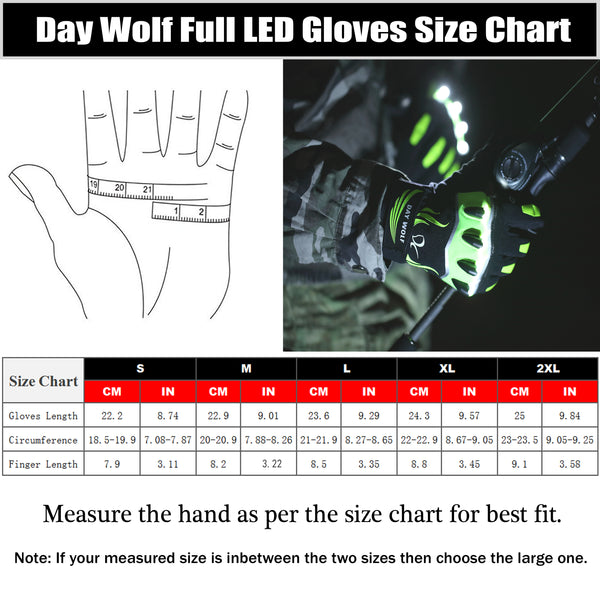 Full LED Flashlight Gloves Touch Screen Rechargeable 3 LED Modes Bright Torch High Lumens Cycling Night Work Indoor Outdoor Sports Fishing Camping Hiking Halloween Gift Work Up to 6 Hours Men And Women