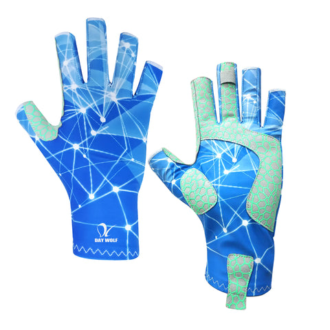 UV Protection Fishing Gloves Breathable Fingerless UPF 50+ for Outdoor Rowing Kayaking
