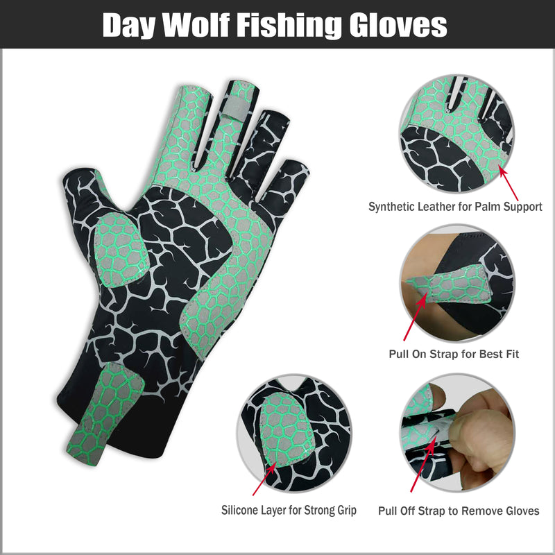 Fishing Gloves - Day Wolf