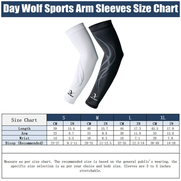 Sports Arm Sleeves UV Protection UPF 50+ Cooling Compression Comfortable for Men Women Pack of 2