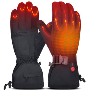 Heated Gloves Skiing Light Weight Touch Screen Electric Hand Warmer 7.4V 2200MAH Rechargeable for Men Women Water Resistant Thermal for Winter Sports Indoor Outdoor Camping Hiking
