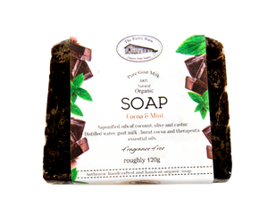 Goat Milk Soap -  Cocao & Mint