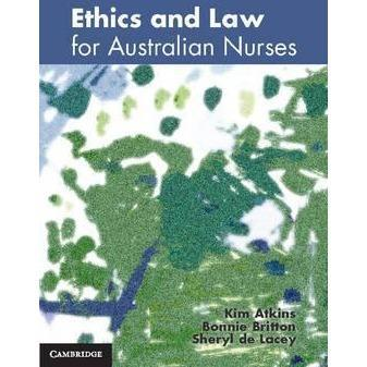 Paramedic Shop Cambridge University Press Textbooks Ethics and Law for Australian Nurses