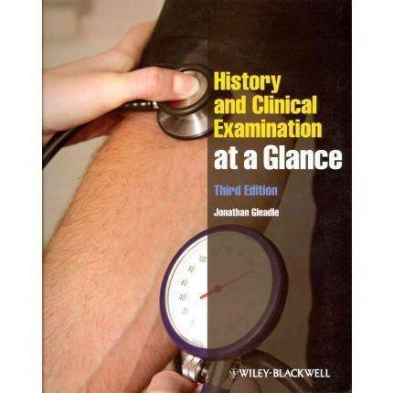 Paramedic Shop John Wiley & Sons Textbooks History and Clinical Examination at a Glance 3e