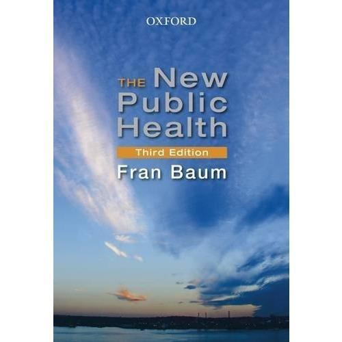 Paramedic Shop Oxford University Press Textbooks The New Public Health - Baum 3e