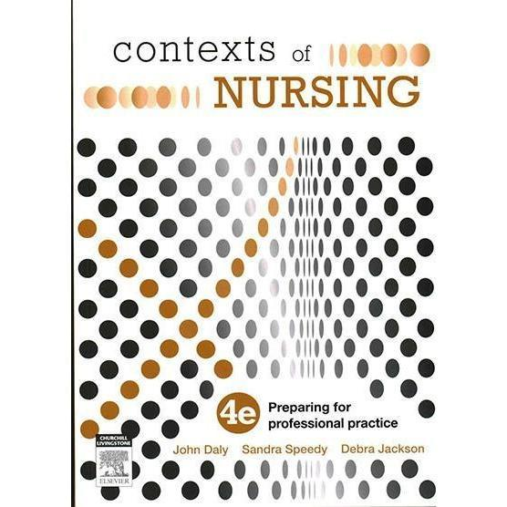 Paramedic Shop Paramedic Shop Textbooks Contexts of Nursing 4e