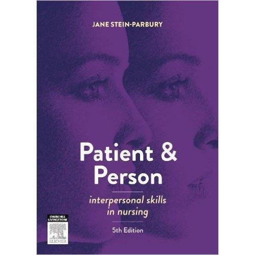 Paramedic Shop Paramedic Shop Textbooks Patient and Person - Interpersonal Skills in Nursing: 5e