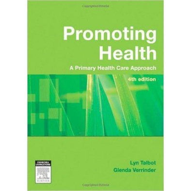 Paramedic Shop Paramedic Shop Textbooks Promoting Health 4th Edition The Primary Health Care Approach