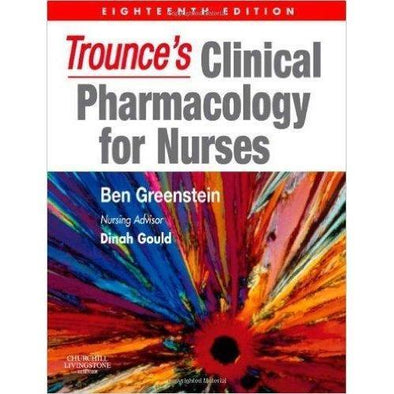 Paramedic Shop Paramedic Shop Textbooks Trounce's Clinical Pharmacology for Nurses 18e