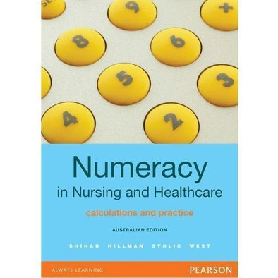 Paramedic Shop Pearson Education Textbooks Numeracy in Nursing and Healthcare: Australian Edition 7th ed