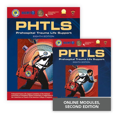 Paramedic Shop PSG Learning Textbooks Prehospital Trauma Life Support (PHTLS) Hybrid Course Bundle: Eighth Edition NAEMT