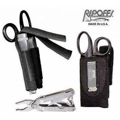 Paramedic Shop Ripoffs Pouch Ripoffs Clip On 2 Pocket EMT Holster