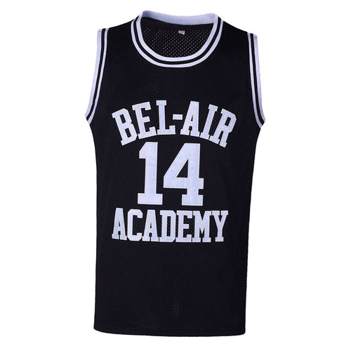 BLACK BEL-AIR ACADEMY JERSEY #14 BASKETBALL THROWBACK JERSEY