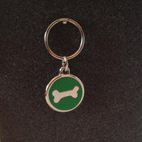 Deluxe Small Bone Dog/Cat Id Tag - Green