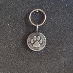 Vintage Pewter Paw Charm