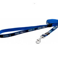 Rogz Dog Fixed Lead - Indigo Bones - Small & Medium