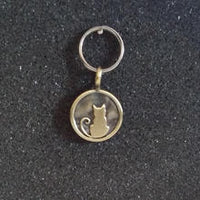 Vintage Brass Cat Pet Charm