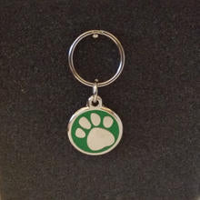 Deluxe Small Paw Print Dog/Cat Id Tag - Green