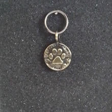 Vintage Brass Paw Pet Charm