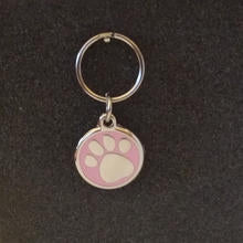 Deluxe Small Paw Print Dog/Cat Id Tag - Pink