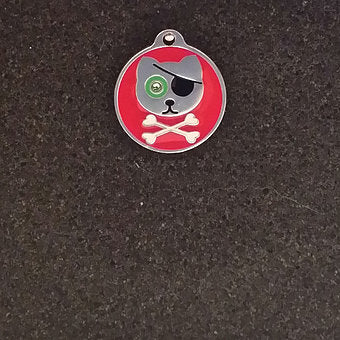 Swarovski Pirate Cat Id Tag