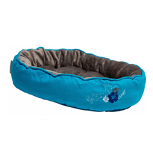 Snug Pod Cat Bed - Blue Floral - Medium