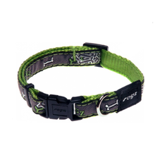Rogz Fancy Dress Dog Collar - Lime Bone