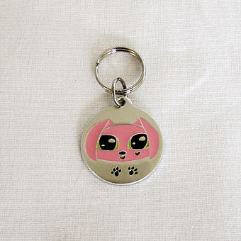 GoPet Pink Puppy - Small Dog Id Tag