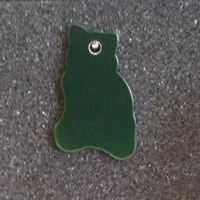 Cat Id Tag - Green
