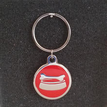 Deluxe Large Bowl Dog Id Tag - Red