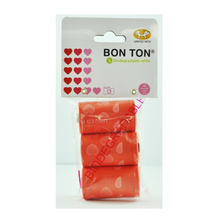 Bon Ton Refill Biodegradable Bags - Red Hearts