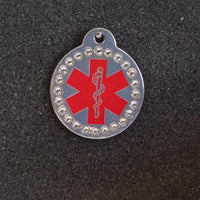Round Shaped Medical Id Tag
