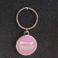 Deluxe Large Bowl Dog Id Tag - Pink