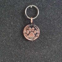 Vintage Copper Paw Pet Charm
