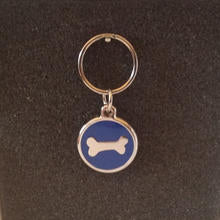 Deluxe Small Bone Dog/Cat Id Tag - Blue