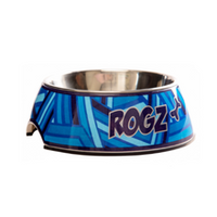 Rogz Bubble Dog Bowl - Navy Zen